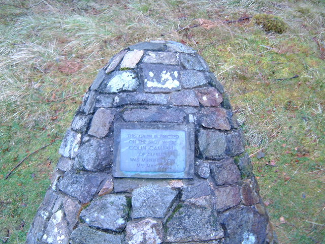 Memorial cairn near Ballachulish, Scotland.