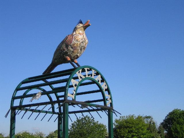 Bird Sculpture at Lake Farm Park, Hayes