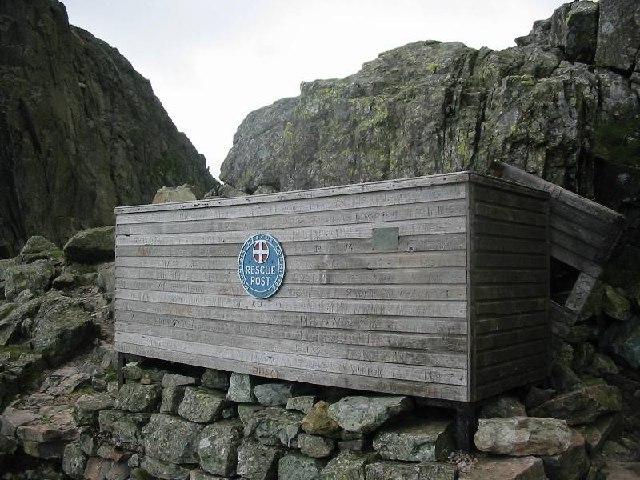 Stretcher box at Mickledore rescue post
