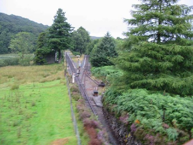 Railway spiral at Dduallt