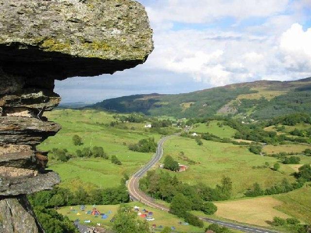 Afon Lledr valley from Dolwyddelan Castle