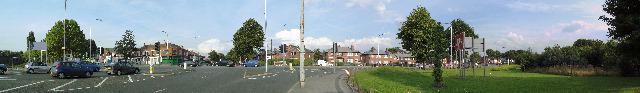Princess Road - Mauldeth Road Junction at Hough End