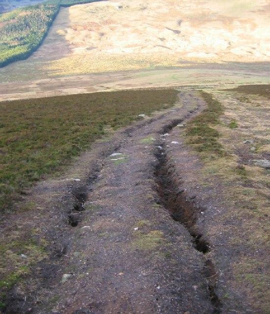 Erosion, Mount Blair.