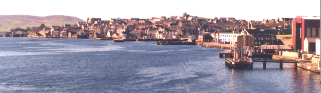 Lerwick from the Aberdeen Ferry