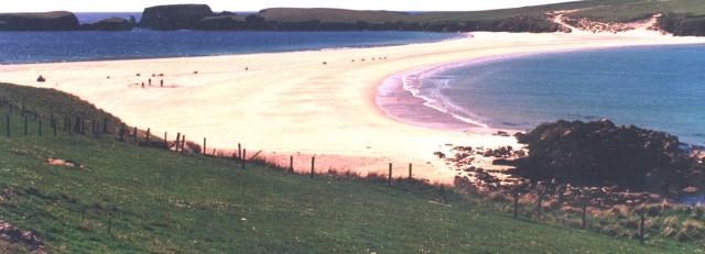 Tombolo at St Ninian's Isle