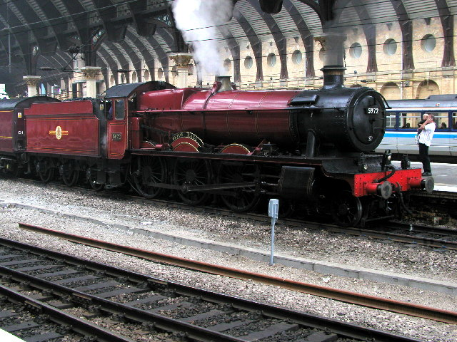 Steam engine in York Station