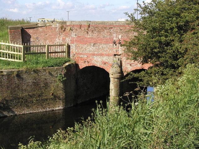 Old brick bridge across Burstwick Drain