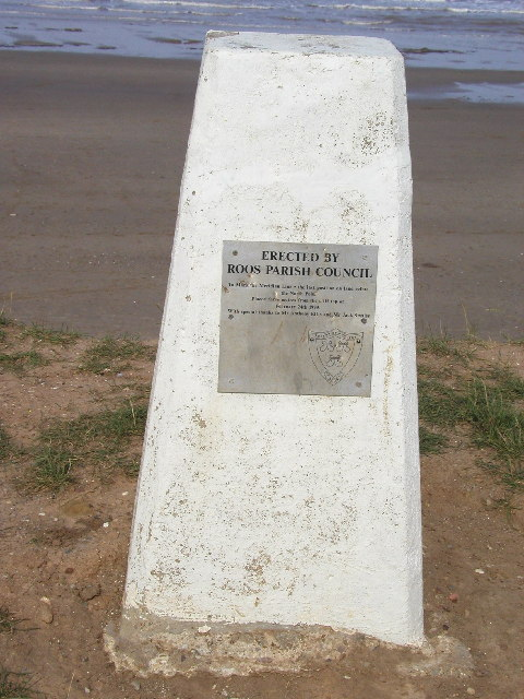 Trig Point at Tunstall Beach, East Yorkshire
