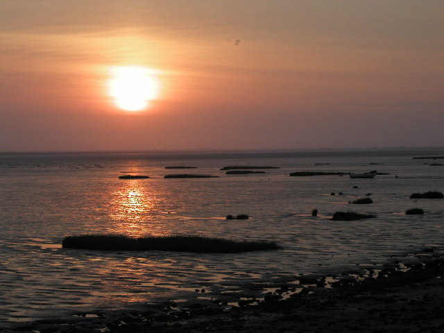 Sunset over Kilnsea mudflats