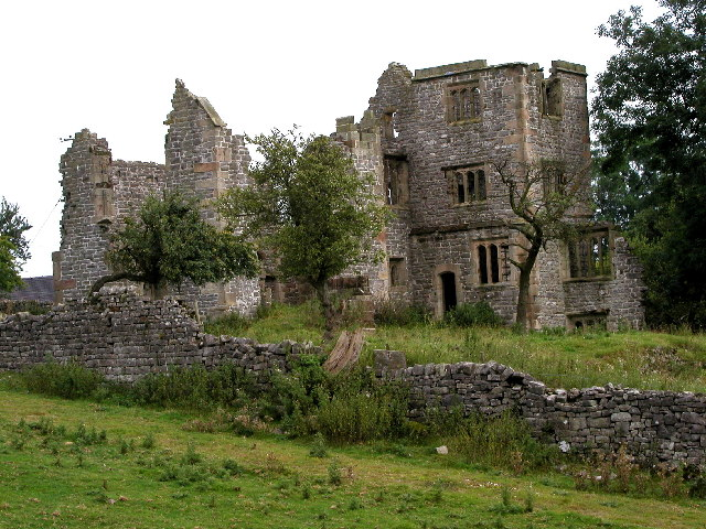 Throwley Hall ruin