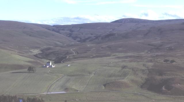 Corgarff from Allargue Hill