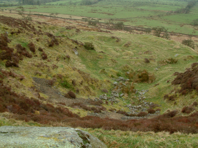 Pit on the slopes of Binsey, looking south-west
