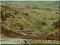 NY2135 : Pit on the slopes of Binsey, looking south-west by Stephen Dawson