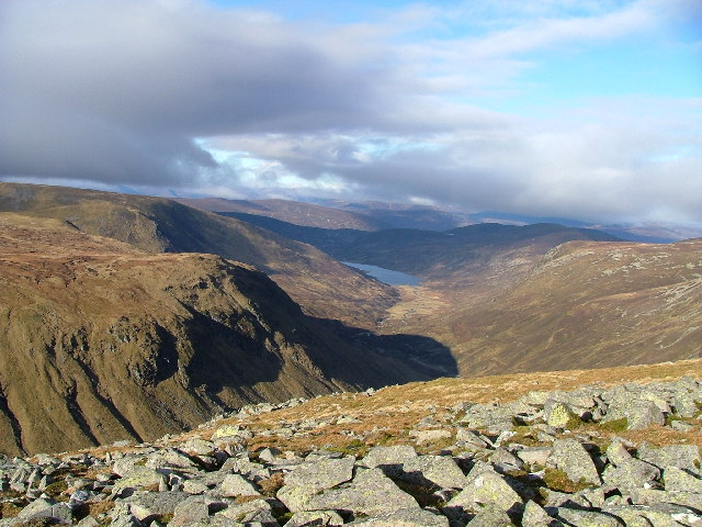 Glen Callater from North West of Tolmount