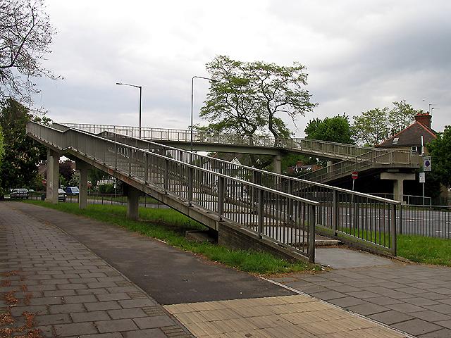 Pedestrian Bridge over the A406 (T)