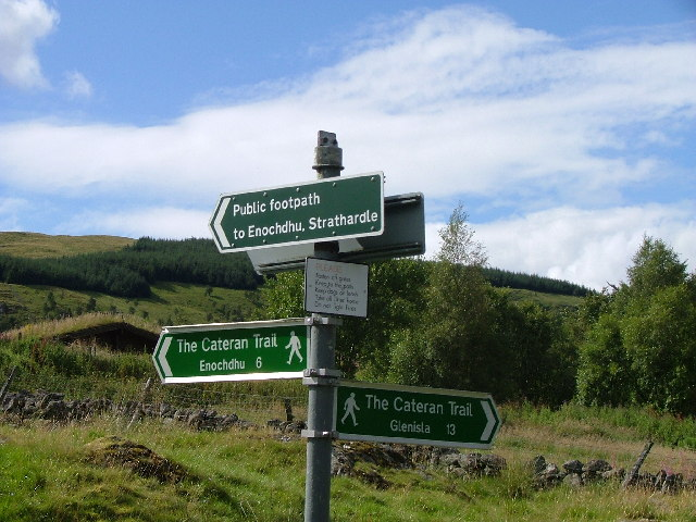 Cateran Trail signposts