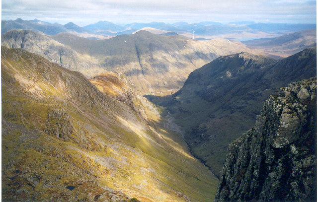 Lost Valley Glencoe from Bidean nam Bian