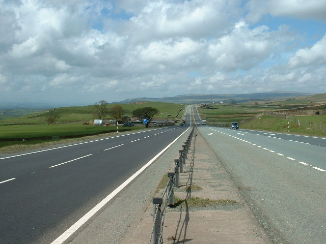 The A66 near Brough