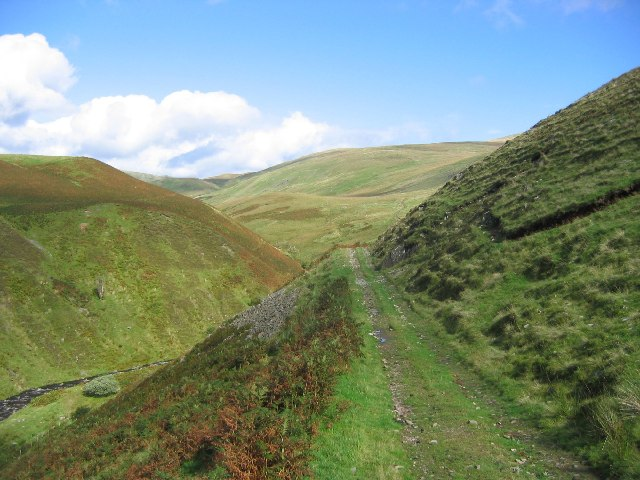 Track above the Capel Burn