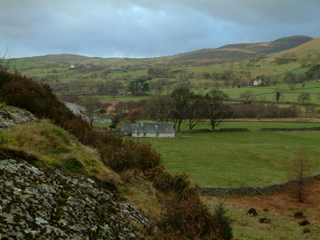 Farmland and Bowness by Ennerdale Water