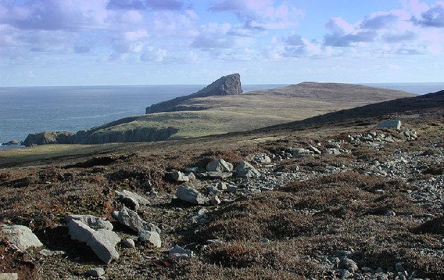 Old peat road, Fair Isle