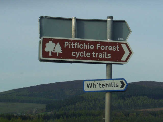 Signs to cycle trails at Whitehills