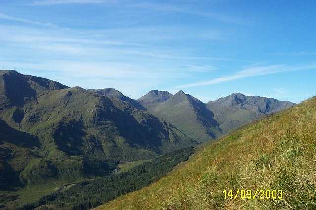 The Saddle in Kintail from footpath to Bealach an Lapan