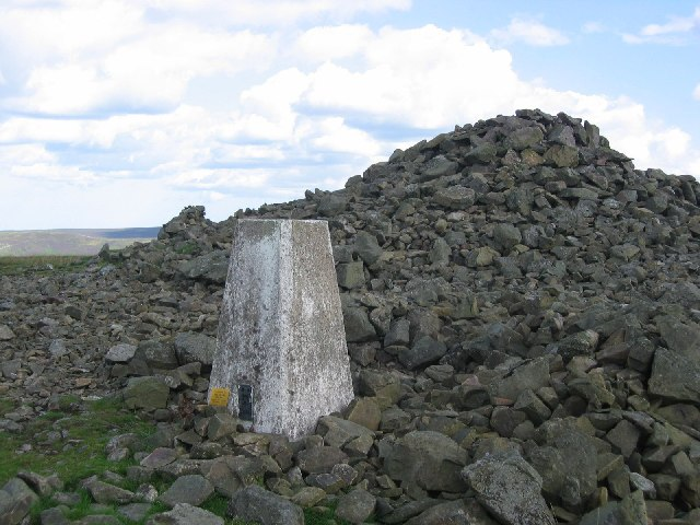 Ancient cairn on Lammer Law