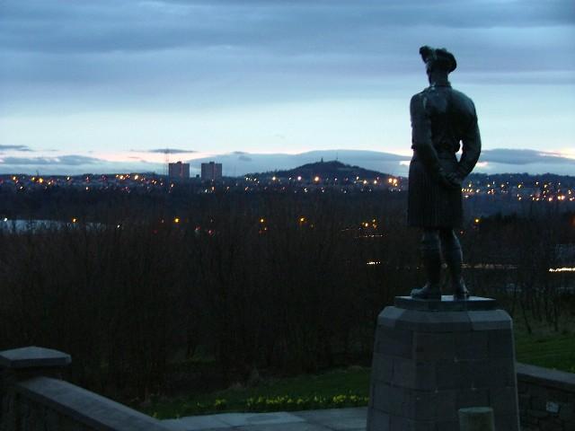 Black Watch Memorial looking south