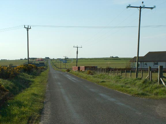 Caithness single-track country road