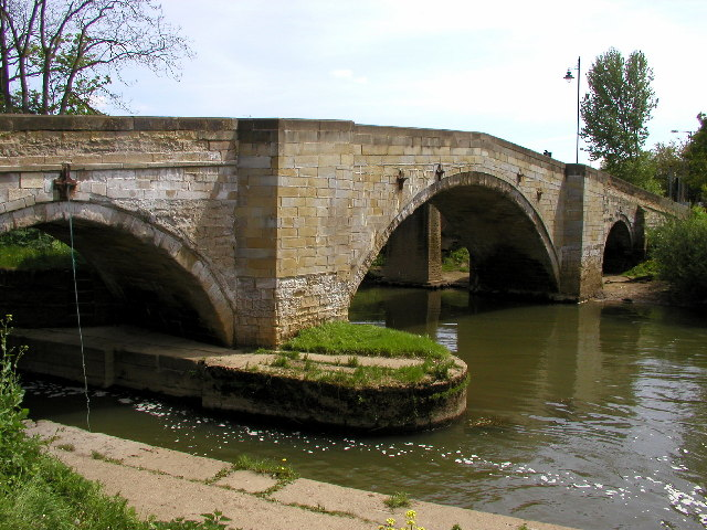 The road bridge at Stamford Bridge over the River Derwent
