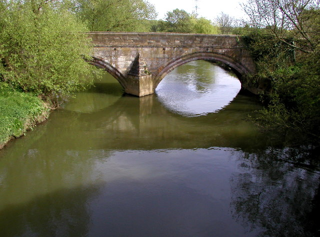 The old Kexby Bridge over the River Derwent