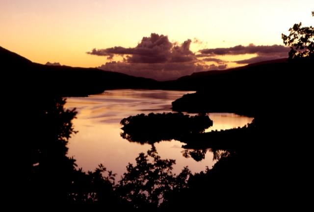 Sunset at the Queen's View, Loch Tummel