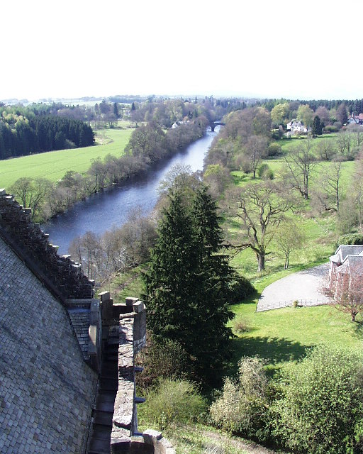 Doune Castle looking NW along the River Teith