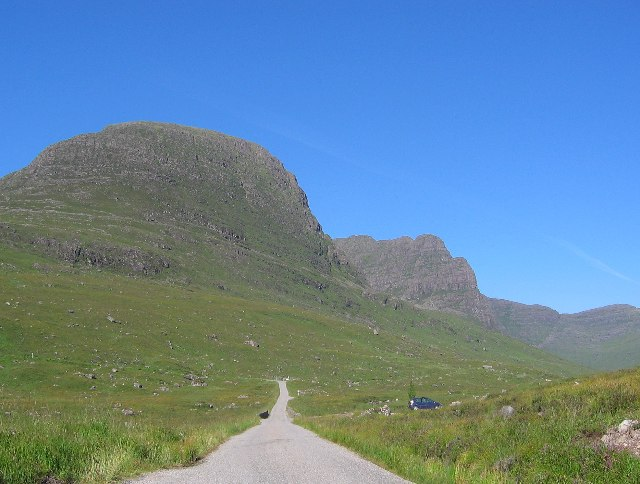 Sgurr a' Chaorachain and the Bealach na Ba road