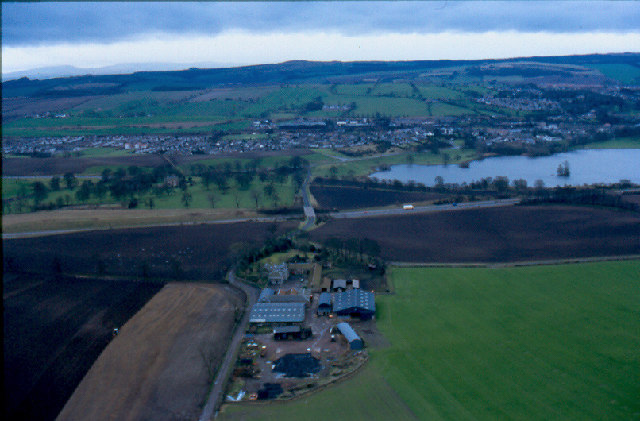 Aerial view of Bonnytoun Farm, Linlithgow
