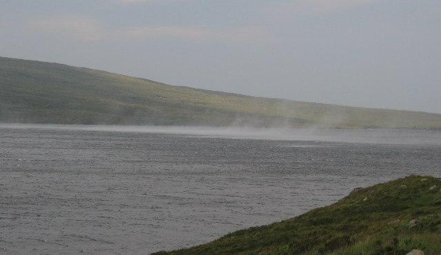 Spindrift on Loch na h-Oidhche