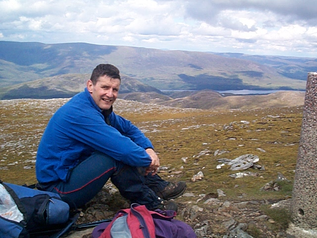 Me on summit of Geal Charn