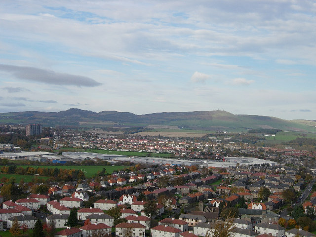 View towards the north from Dundee Law