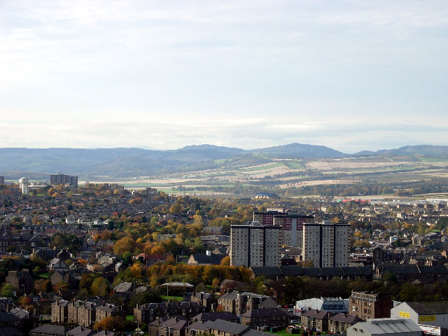 View west from Dundee Law