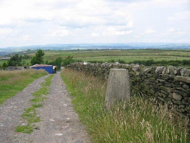 """""""Mount Pleasant"""", Haslingden Moor's Trig pillar."""