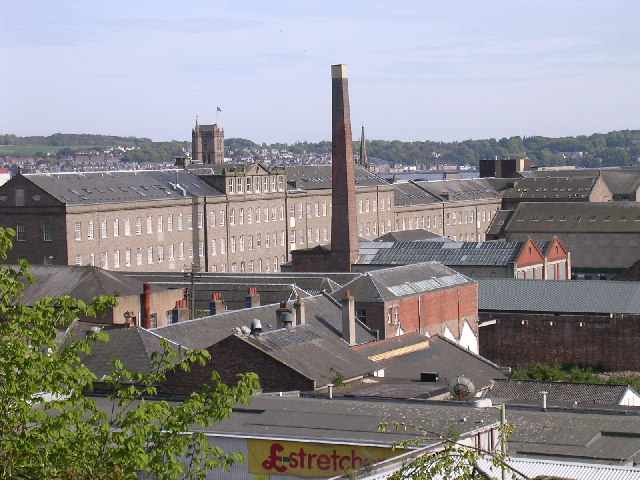 Inner city industrial area Dundee