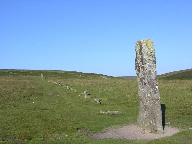 The Stone Row at Ditsworthy Warren