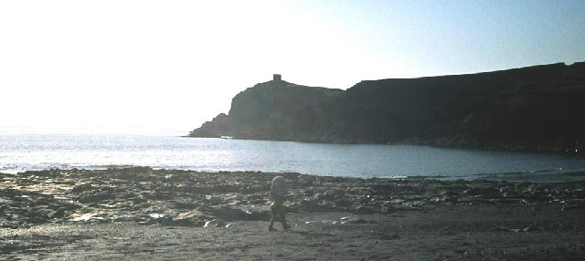 Abereiddy Beach and Tower