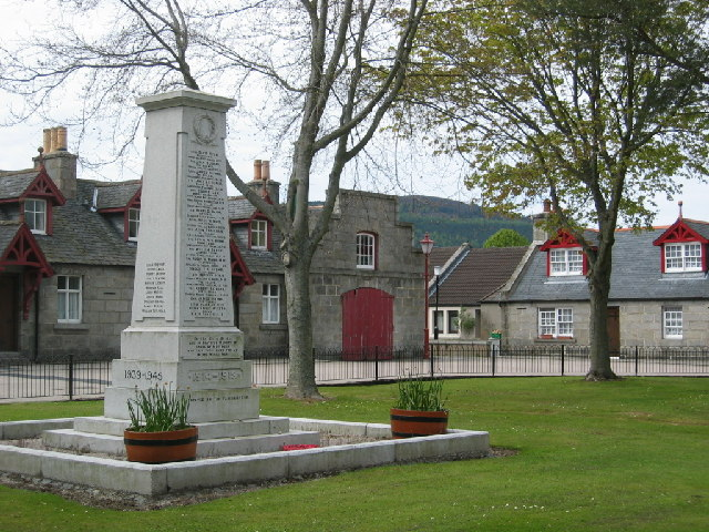 The village square, Monymusk