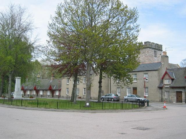 Village square, Monymusk