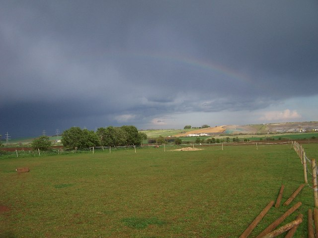 Rainbow over the land-fill site