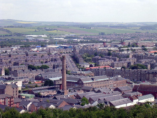 Factories and tenements in Dundee's inner city