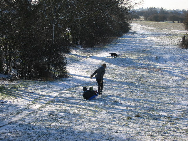 Trying to sledge