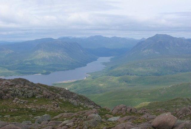 Loch Etive from Meall nan Each